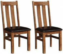 Rustic Oak Arizona Dining Chair (Pair)