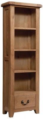 Somerset Oak Narrow Bookcase