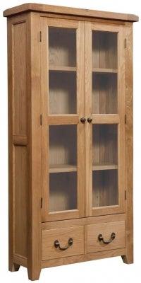 Somerset Oak Display Cabinet