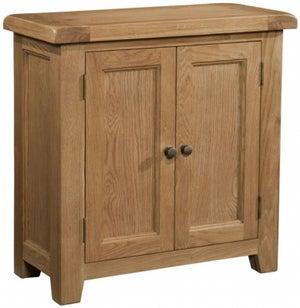 Somerset Oak 2 Door Hall Cabinet