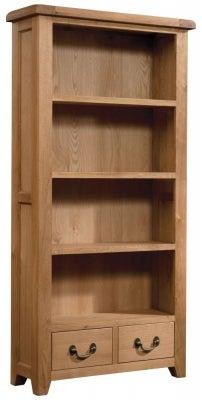 Somerset Oak High Bookcase