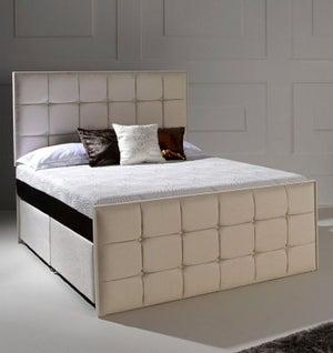 Dormeo Octaspring Loire Fabric Divan Bed with Hybrid Plus Mattress