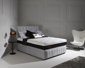 Dormeo Octaspring Roma Fabric Divan Bed with 6500 Mattress