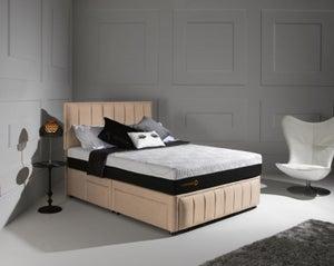 Dormeo Octaspring Roma Fabric Divan Bed with Hybrid Mattress