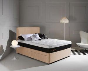 Dormeo Octaspring Tiffany Brown Sugar Fabric Divan Bed with Hybrid Mattress