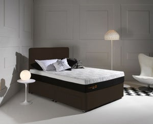 Dormeo Octaspring Tiffany Chocolate Fabric Divan Bed with Hybrid Mattress
