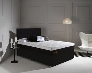 Dormeo Octaspring Tiffany Midnight Black Fabric Divan Bed with Tribrid Mattress