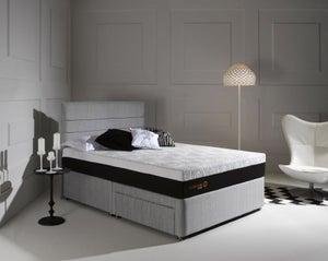 Dormeo Octaspring Tiffany Silver Mist Fabric Divan Bed with Tribrid Mattress
