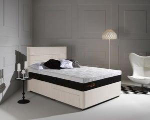 Dormeo Octaspring Tiffany White Sand Fabric Divan Bed with Tribrid Mattress