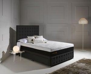 Dormeo Octaspring Venice Fabric Divan Bed with Hybrid Plus Mattress