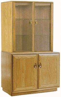 Ercol Windsor 2 Door Cabinet with Display Top