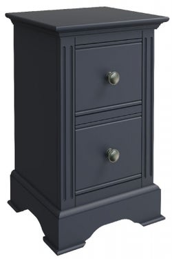 Ashby Midnight Grey Painted 2 Drawer Bedside Cabinet