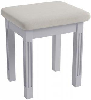 Ashby Moonlight Grey Painted Bedroom Stool