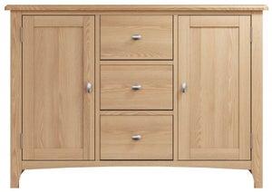 Eva Light Oak 2 Door 3 Drawer Sideboard