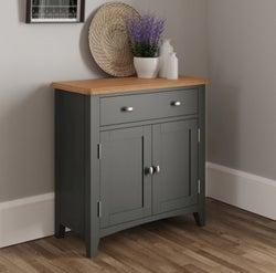 Graceton Oak and Grey Painted 2 Door 1 Drawer Sideboard