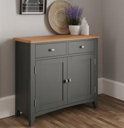 Graceton Oak and Grey Painted 2 Door 2 Drawer Sideboard