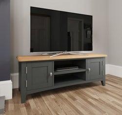 Graceton Oak and Grey Painted Large TV Unit