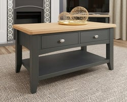 Graceton Oak and Grey Painted Storage Coffee Table
