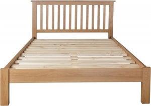 Hampton Rustic Oak Bed