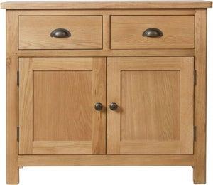 Hampton Rustic Oak 2 Door 2 Drawer Medium Sideboard