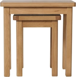 Hampton Rustic Oak Nest of 2 Tables