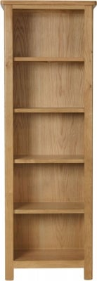 Hampton Rustic Oak Tall Bookcase