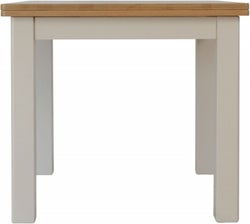 Portland Oak and Dove Grey Painted Flip Top Dining Table