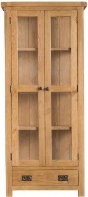 Tucson Oak 2 Door 1 Drawer Display Cabinet