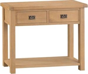 Tucson Oak 2 Drawer Console Table
