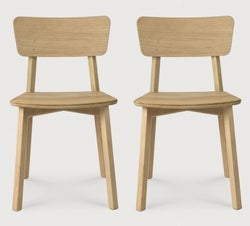 Ethnicraft Oak Casale Varnish Dining Chair (Pair)