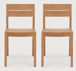 Ethnicraft Teak Ex 1 Dining Chair (Pair)