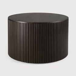 Ethnicraft Mahogany Roller Max Dark Brown Round Coffee Table