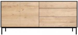 Ethnicraft Oak Blackbird 2 Door 3 Drawer Sideboard