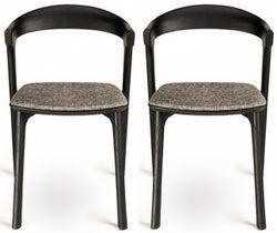 Ethnicraft Oak Bok Grey Dining Chair (Pair)