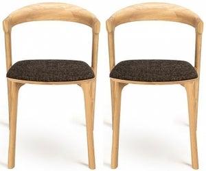 Ethnicraft Oak Bok Dark Brown Dining Chair (Pair)