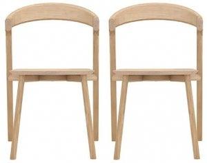 Ethnicraft Oak Bok Dining Chair (Pair)