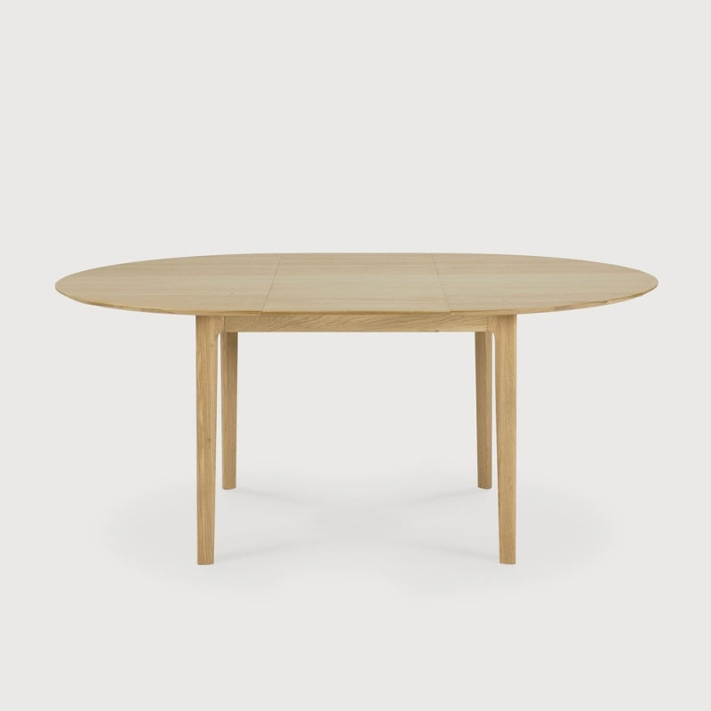 Ethnicraft Oak Bok Round Extending Dining Table