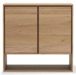 Ethnicraft Oak Nordic 2 Door Narrow Sideboard
