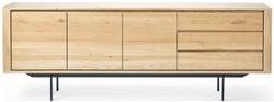 Ethnicraft Oak Shadow 3 Door 3 Drawer Sideboard - Black