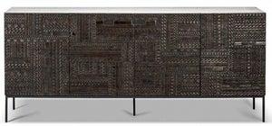 Ethnicraft Teak Ancestors Tabwa 4 Door Wide Sideboard