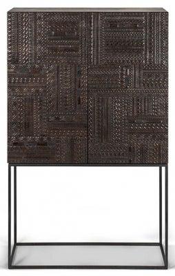 Ethnicraft Teak Ancestors Tabwa 2 Door 2 Drawer High Storage Cupboard