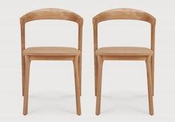 Ethnicraft Teak Bok Outdoor Dining Chair (Pair)