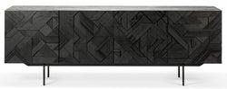 Ethnicraft Teak Graphic Black 4 Door Sideboard