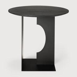 Ethnicraft Teak Arc Black Side Table