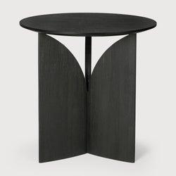 Ethnicraft Teak Fin Black Side Table