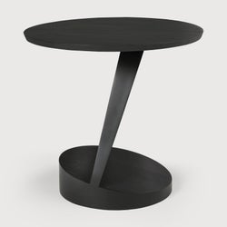 Ethnicraft Teak Oblic Black Side Table