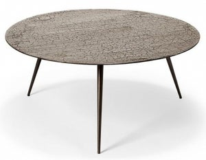 Ethnicraft Luna Taupe Large Round Metal Coffee Table
