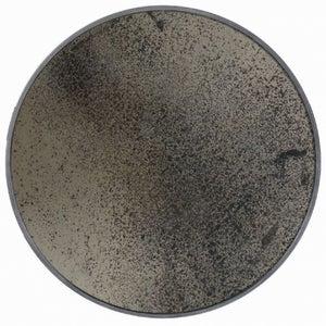 Notre Monde Bronze Light Aged Wooden Frame Medium Round Mirror - 61cm