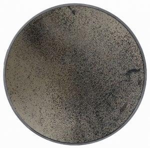 Notre Monde Bronze Light Aged Wooden Frame Large Round Mirror - 92cm