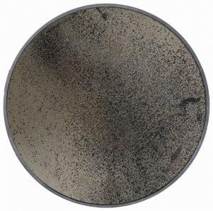 Notre Monde Bronze Light Aged Wooden Frame Small Round Mirror - 48cm